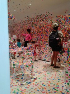 "Yayoi Kusama, ""Obliteration Room,"" conceived 2001; at David Zwirner (5/26/15)"